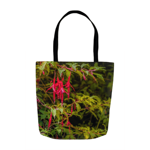 Image of Tote Bags - Wild Irish Fuchsias Tote Bag Moods of Ireland 13x13 inch