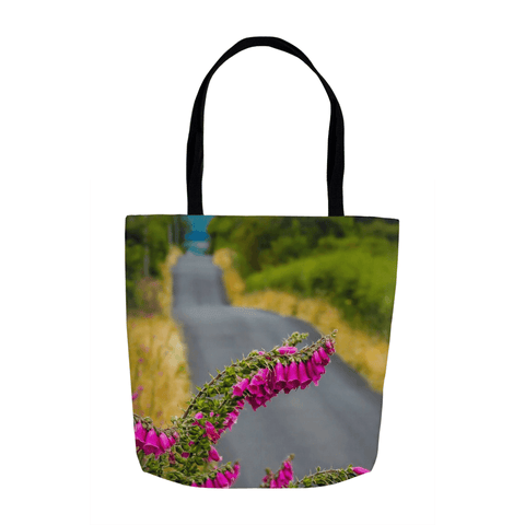 Tote Bags - Foxglove on the Road to Lissycasey, County Clare Tote Bag Moods of Ireland 13x13 inch