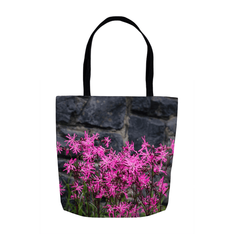 Image of Tote Bags - Wild Irish Ragged Robin Tote Bag Moods of Ireland 13x13 inch