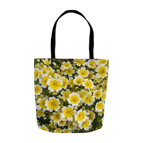 Tote Bags - Irish Poached Egg Flowers Tote Bag Moods of Ireland 13x13 inch