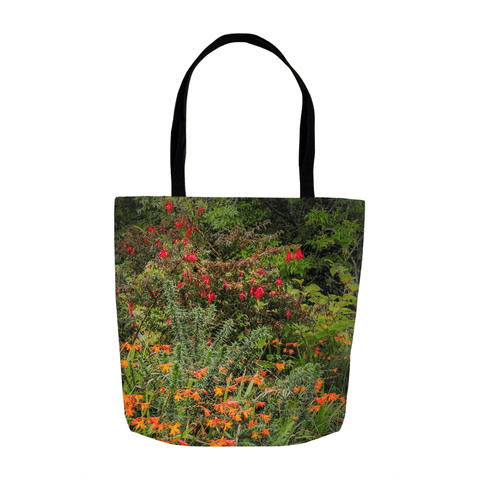 Image of Tote Bags - Irish Summer Wildflowers Tote Bag Moods of Ireland 13x13 inch