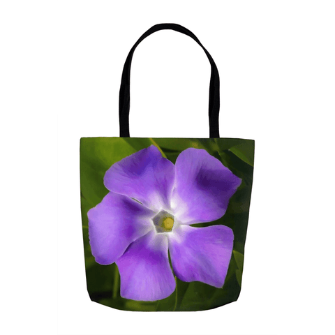 Tote Bags - Wild Irish Periwinkle Tote Bag Moods of Ireland 13x13 inch
