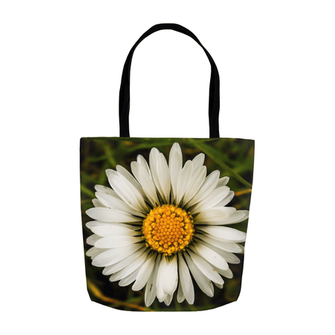 Image of Tote Bags - Wild Irish Daisy Wildflower Tote Bag Moods of Ireland 13x13 inch