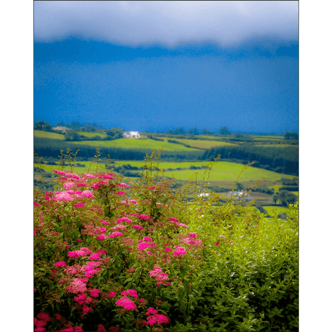 Print - Clouds over Green Hills of County Clare - James A. Truett - Moods of Ireland - Irish Art