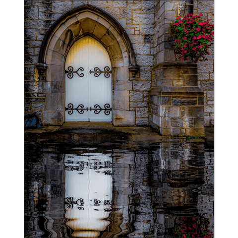 Image of Poster Print - Reflections at St. Augustine's Church, Galway Poster Print Moods of Ireland 8x10 inch