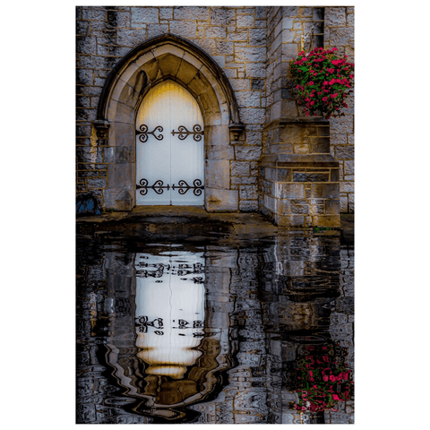 Image of Poster Print - Reflections at St. Augustine's Church, Galway Poster Print Moods of Ireland 12x18 inch