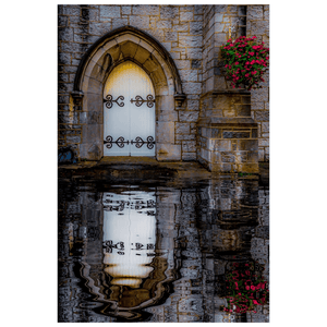 Poster Print - Reflections at St. Augustine's Church, Galway Poster Print Moods of Ireland 12x18 inch