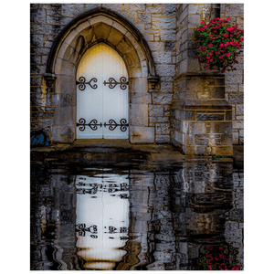 Poster Print - Reflections at St. Augustine's Church, Galway Poster Print Moods of Ireland 16x20 inch