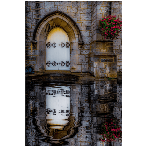 Image of Poster Print - Reflections at St. Augustine's Church, Galway Poster Print Moods of Ireland 24x36 inch