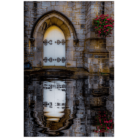 Image of Poster Print - Reflections at St. Augustine's Church, Galway Poster Print Moods of Ireland 20x30 inch