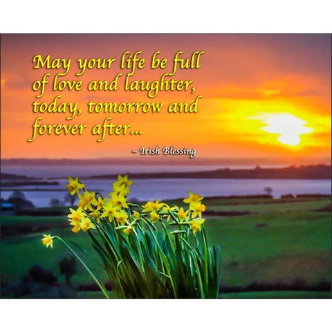 Irish Blessing Poster – May Your Life Be Full of Love and Laughter