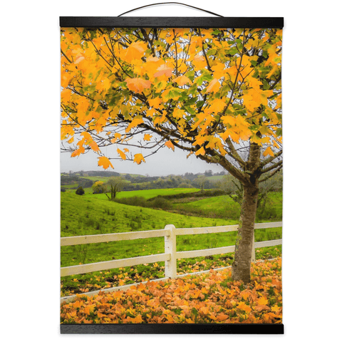 Image of Wall Hanging - Autumn Leaves in Ballynacally, County Clare - James A. Truett - Moods of Ireland - Irish Art