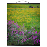 Wall Hanging - Irish Countryside Summer Wildflower Meadow Wall Hanging Moods of Ireland 16x20 inch Black