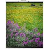 Wall Hanging - Irish Countryside Summer Wildflower Meadow Wall Hanging Moods of Ireland 20x24 inch Black