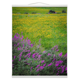 Wall Hanging - Irish Countryside Summer Wildflower Meadow Wall Hanging Moods of Ireland 16x20 inch White
