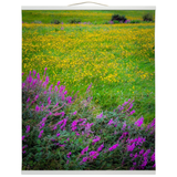 Wall Hanging - Irish Countryside Summer Wildflower Meadow Wall Hanging Moods of Ireland 20x24 inch White