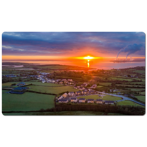 Image of Desk Mat - December Sunrise over Shannon Estuary, County Clare - James A. Truett - Moods of Ireland - Irish Art