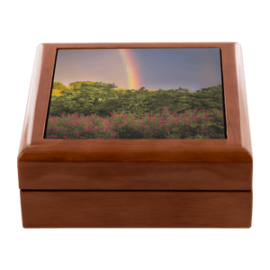 Jewelry Box - Irish Rainbow and Wildflowers in County Clare Jewelry Box teelaunch