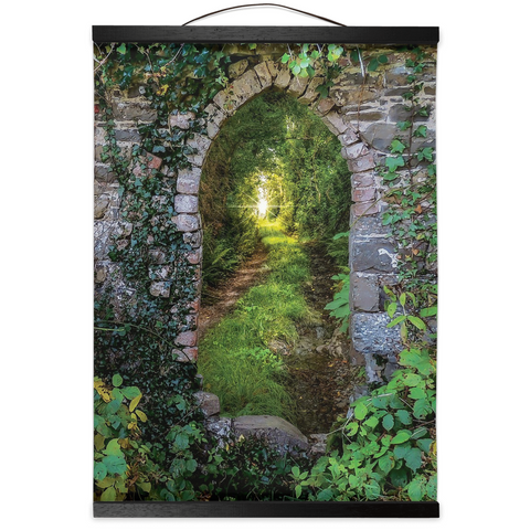 Image of Wall Hanging - Tranquil Irish Path in County Clare - James A. Truett - Moods of Ireland - Irish Art