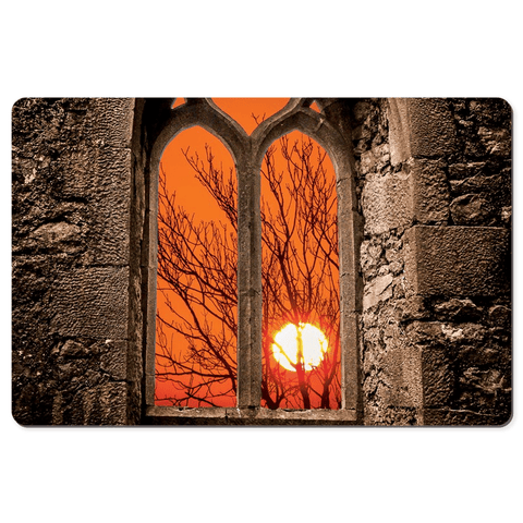 Image of Desk Mat - Clare Abbey Sunrise, County Clare - James A. Truett - Moods of Ireland - Irish Art