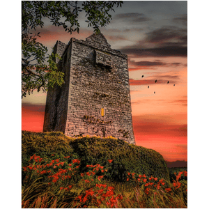 Print - Ballinalacken Castle at Sunset, County Clare Poster Print Moods of Ireland 8x10 inch