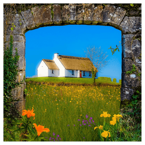 Image of Print - Thatched Cottage on a Hill, County Clare - James A. Truett - Moods of Ireland - Irish Art