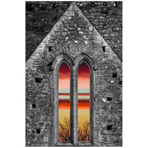 Print - Medieval Cathedral Sunrise at Rock of Cashel, County Tipperary - James A. Truett - Moods of Ireland - Irish Art