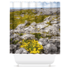 Shower Curtain - Gorse in the Rugged Burren Limestone - James A. Truett - Moods of Ireland - Irish Art