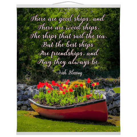 Wall Hanging - Irish Friendship Blessing Wall Hanging Moods of Ireland 20x24 inch White