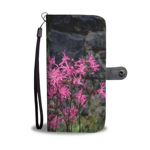 Image of Wallet Phone Case - Wild Irish Ragged Robin Wallet Case wc-fulfillment