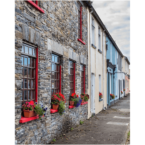 Image of Print - Colourful Carrigaholt Village, Loophead Peninsula, County Clare Poster Print Moods of Ireland 8x10 inch