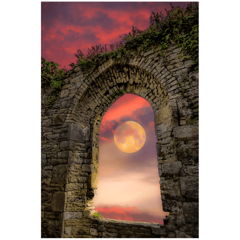 Print - Wolf Moon at Sunrise over County Clare Poster Print Moods of Ireland 24x36 inch