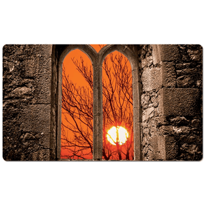 Desk Mat - Clare Abbey Sunrise, County Clare - James A. Truett - Moods of Ireland - Irish Art