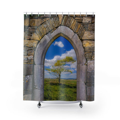 "Image of Shower Curtain - Portal to Irish Summer Home Decor Printify 71"" x 74"""