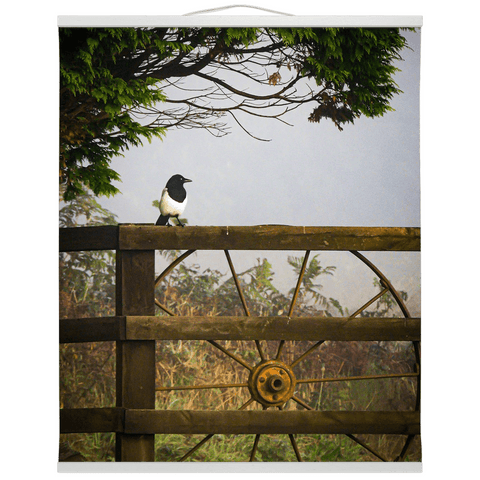 Image of Irish Wall Hanging - Magpie in the Irish Mist, County Clare - James A. Truett - Moods of Ireland - Irish Art