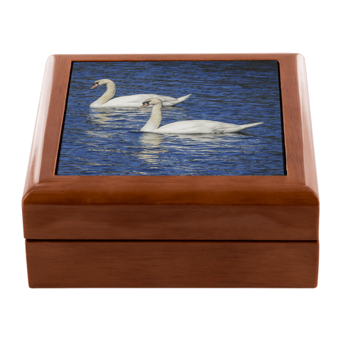 Jewelry Box -White Swans, County Clare, Ireland Jewelry Box teelaunch