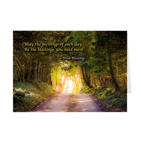 Folded Note Cards - Irish Blessings - Country Road - James A. Truett - Moods of Ireland - Irish Art