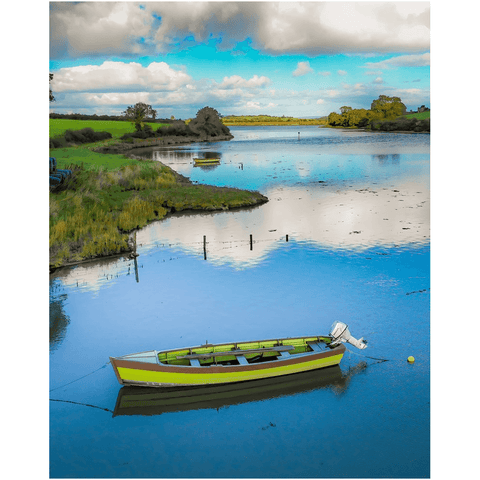 Image of Print - Shannon Estuary Reflections, County Clare Poster Print Moods of Ireland 8x10 inch