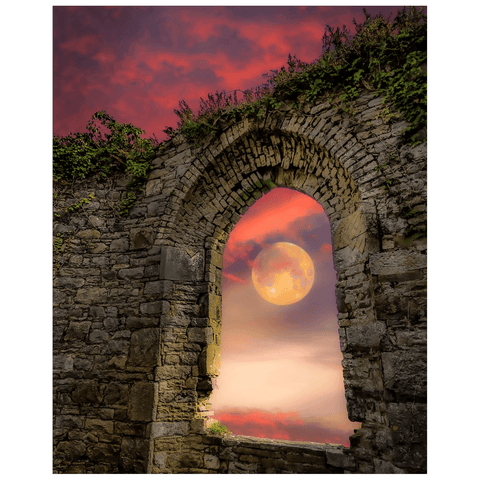 Print - Wolf Moon at Sunrise over County Clare Poster Print Moods of Ireland 16x20 inch