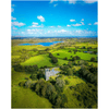Print - Medieval Dysert O'Dea Castle and Ballycullinan Lough, County Clare Poster Print Moods of Ireland 8x10 inch