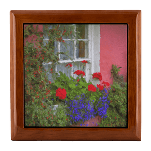 Jewelry Box - Irish Cottage Windowbox at Bunratty, County Clare - James A. Truett - Moods of Ireland - Irish Art