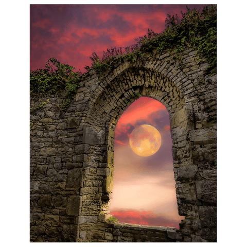 Print - Wolf Moon at Sunrise over County Clare Poster Print Moods of Ireland 11x14 inch