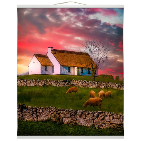 Wall Hanging - Irish Thatched Cottage at Sunrise, County Clare - James A. Truett - Moods of Ireland - Irish Art