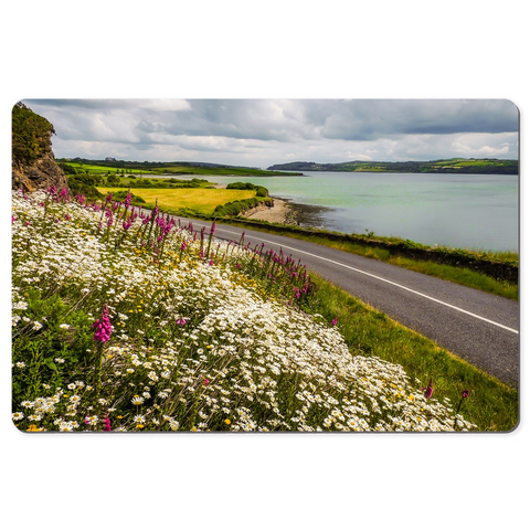 Image of Desk Mat - Wildflowers along Ireland's Shannon Estuary - James A. Truett - Moods of Ireland - Irish Art