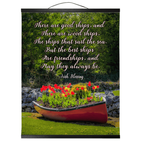 Wall Hanging - Irish Friendship Blessing Wall Hanging Moods of Ireland 16x20 inch Black