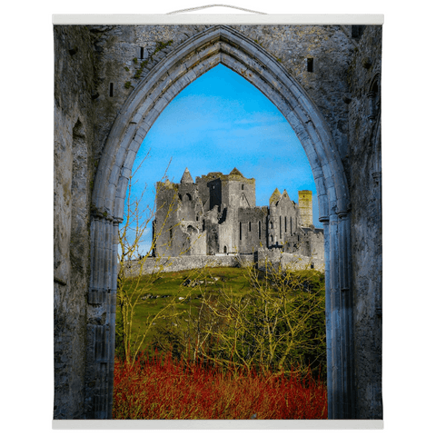 Wall Hanging - Ireland's Wall of Cashel National Monument, County Tipperary Wall Hanging Moods of Ireland 20x24 inch White