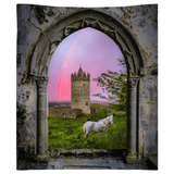 Tapestry - Medieval Castle in the County Clare Countryside Tapestry Moods of Ireland 68x80 inch