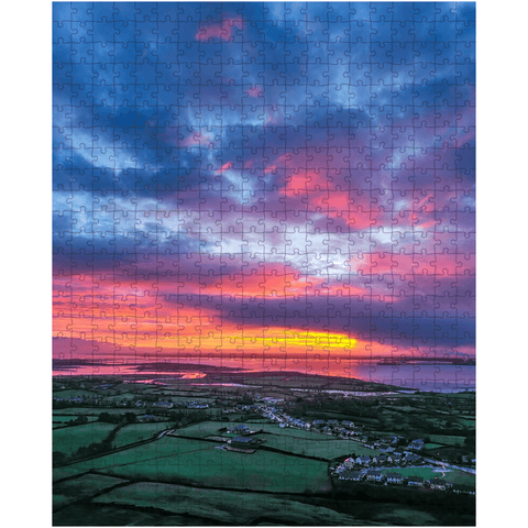 Image of Puzzle - Magical Sunrise over Kildysart, County Clare - James A. Truett - Moods of Ireland - Irish Art