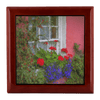 Jewelry Box - Irish Cottage Windowbox at Bunratty, County Clare Jewelry Box teelaunch Red Mahogany