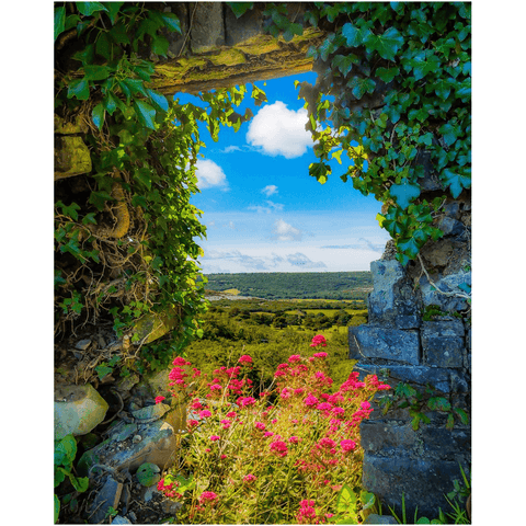 Image of Print - Secret Irish Garden, County Clare - James A. Truett - Moods of Ireland - Irish Art